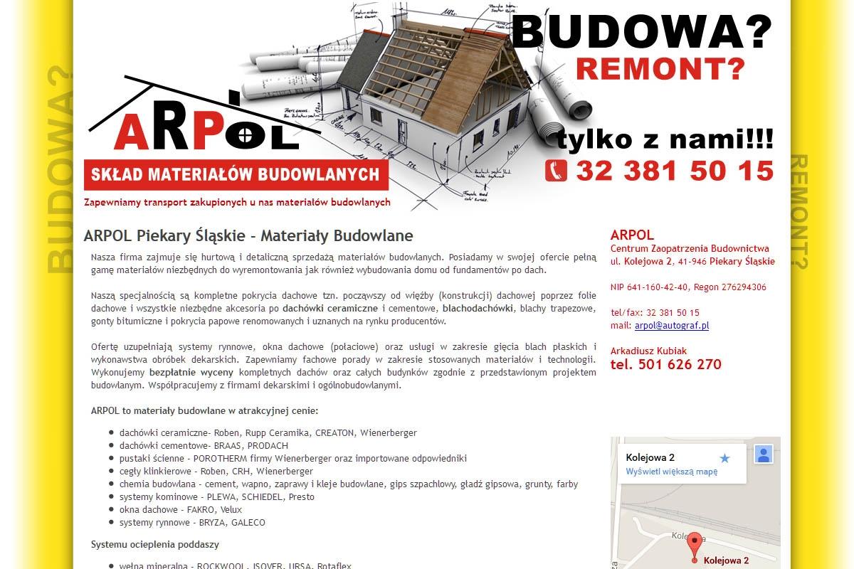 Hurtownia materiałów budowlanych ARPOL